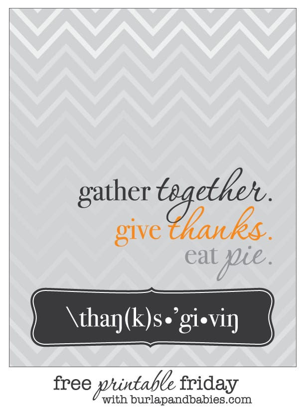 Free Thanksgiving printable!