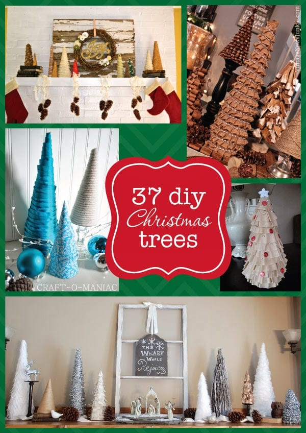 37 DIY Christmas tree roundup