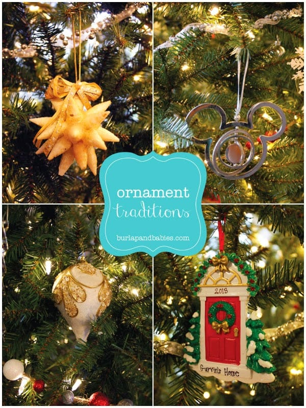 Ornament traditions shared @ Burlap & Babies