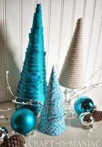 Classy diy mini christmas trees @ Craft-o-maniac