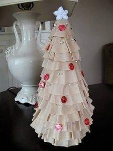 vintage coffee filter Christmas tree tutorial