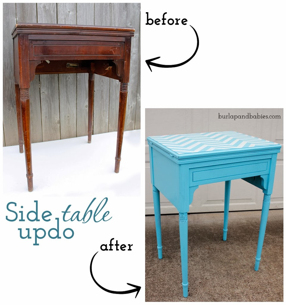 $5 goodwill table makeover