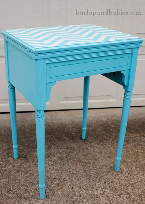 Goodwill table after makeover   Thrifty updo