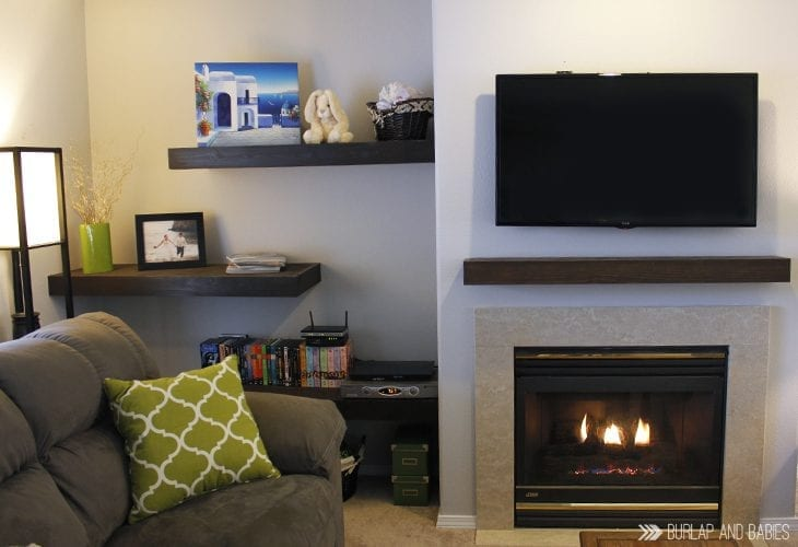 How to hide tv cords | There is nothing that messes up a beautiful room like a mess of cords. Here is a simple way to hide the cords in the wall. Click thru for tutorial!