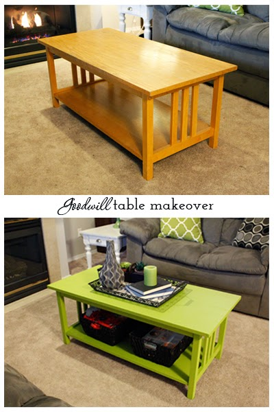 $15 Goodwill table makeover