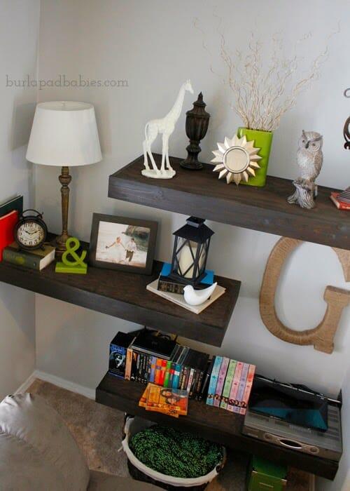 Floating shelves tutorial