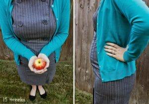 Burlap and Babies: Week 15 baby bump