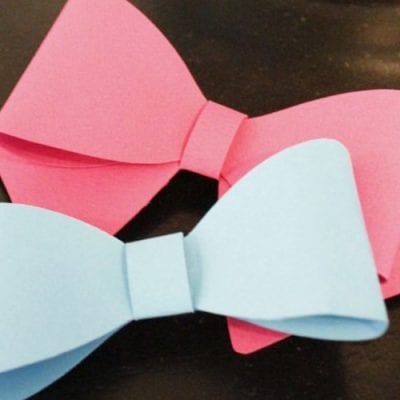 Gender Reveal bows using your Silhouette Cameo
