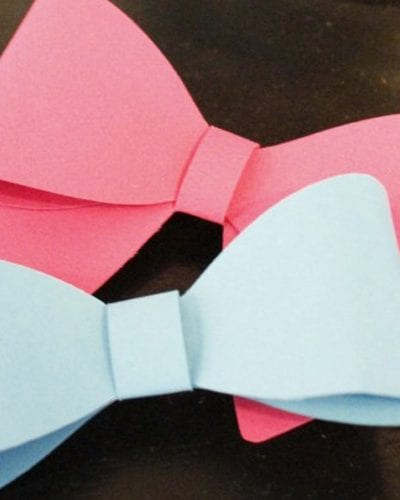 DIY Gender Reveal Bows