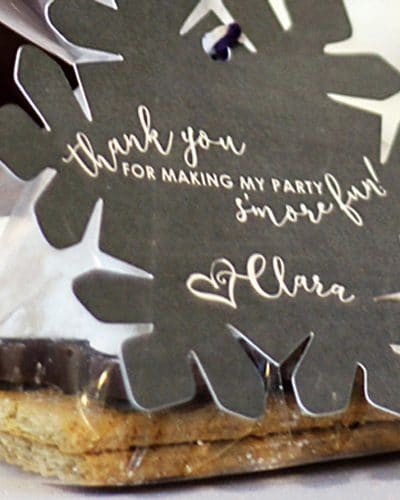 Snowflake S'more Party Favor