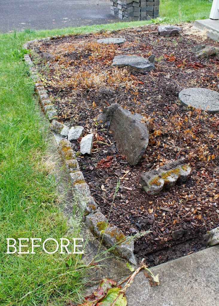 Make a diy retaining wall before image