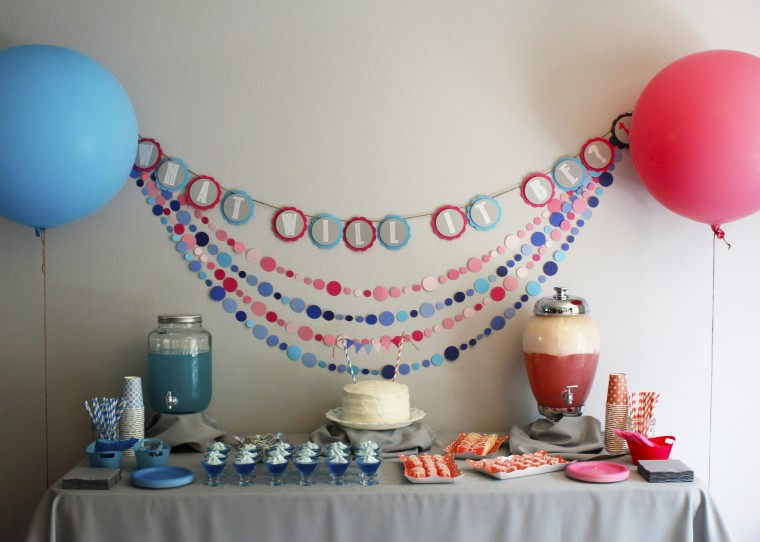 Get all the details on how to host a super fun gender reveal party to celebrate a new baby with your family and friends. Ideas from decorations & food to how to reveal the gender.