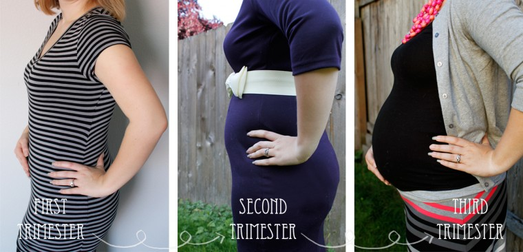 Burlap and Babies baby bump by trimester