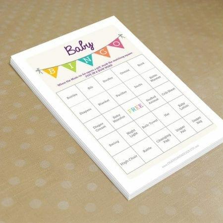 Baby Shower Bingo image.