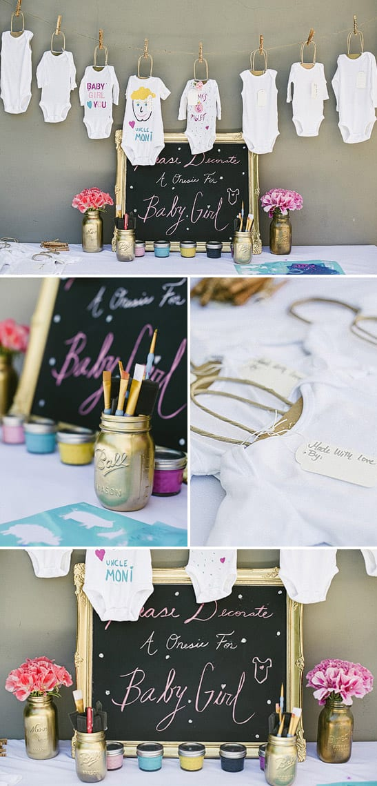 Decorate a onesie baby shower game