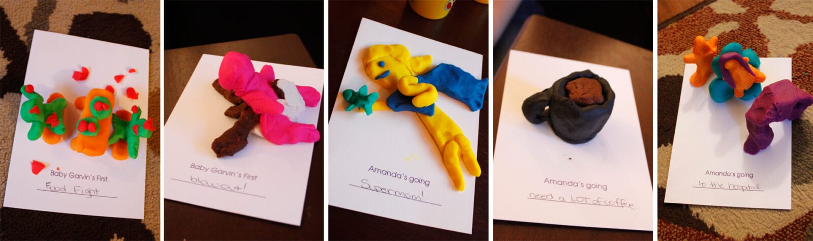 Baby shower games with play doh