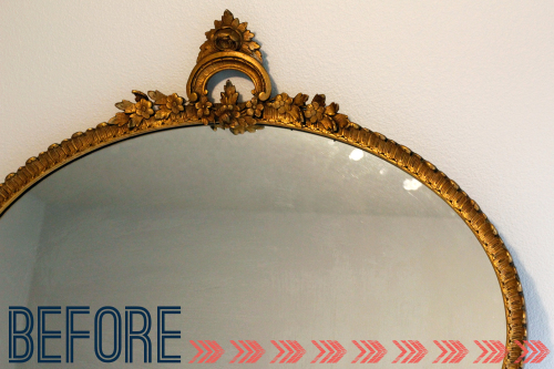 DIY Mirror Makeover BEFORE