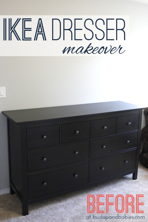 This Hemnes IKEA dresser makeover got a complete new look with a little extra personality to help makeover a little girl's purple nursery and organize it. Pin to your DIY project inspiration board.