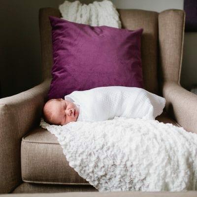 Plum & Giraffe baby girl nursery made for a sweet little girl
