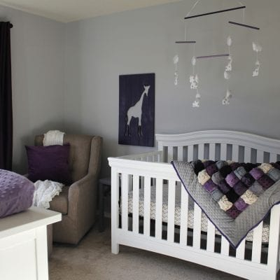 Baby Girl's Purple Nursery Reveal