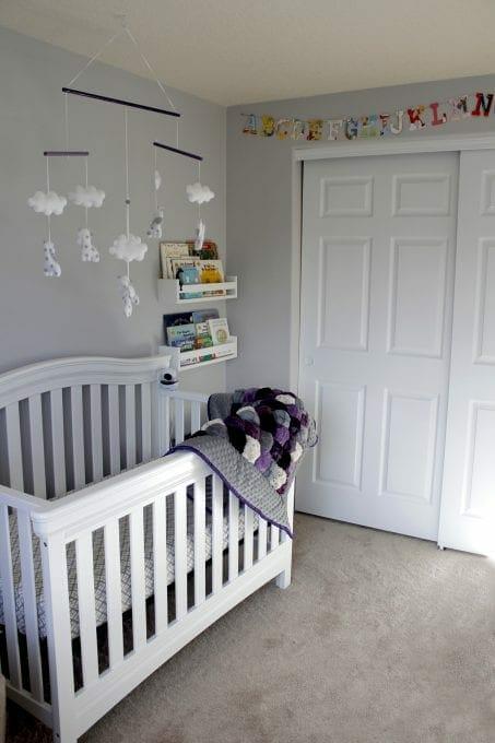 Baby girl's nursery image.