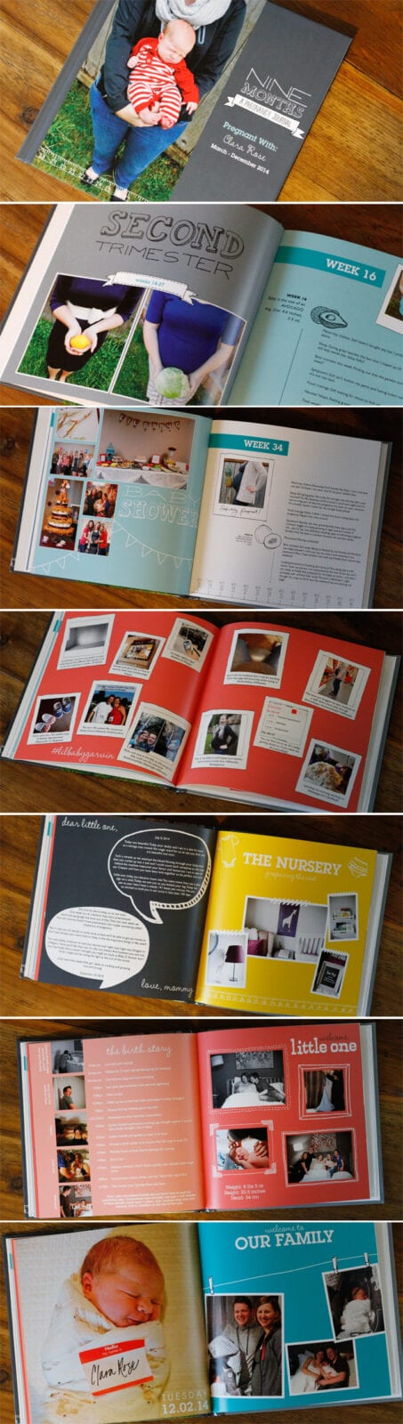 A shutterfly pregnancy journal. Documenting the way from a kumquat to baby.