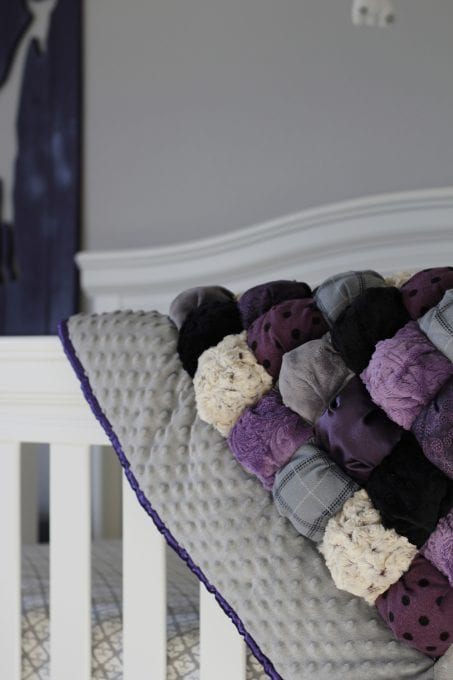 A sweet little girl's purple nursery filled with DIY projects and decor.