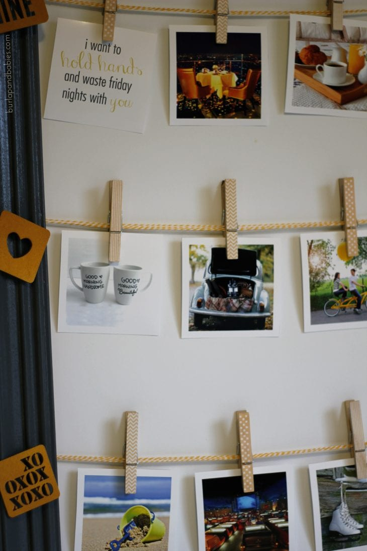 Creative year of date night ideas and adorable, easy display!