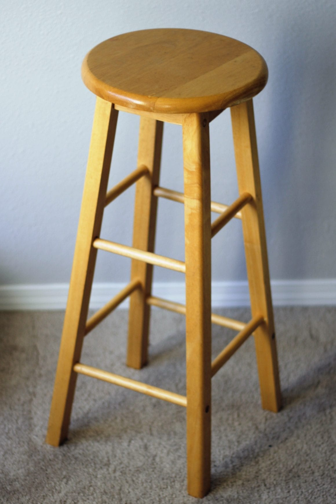 Plain wooden bar stool DIY bar stools  image.