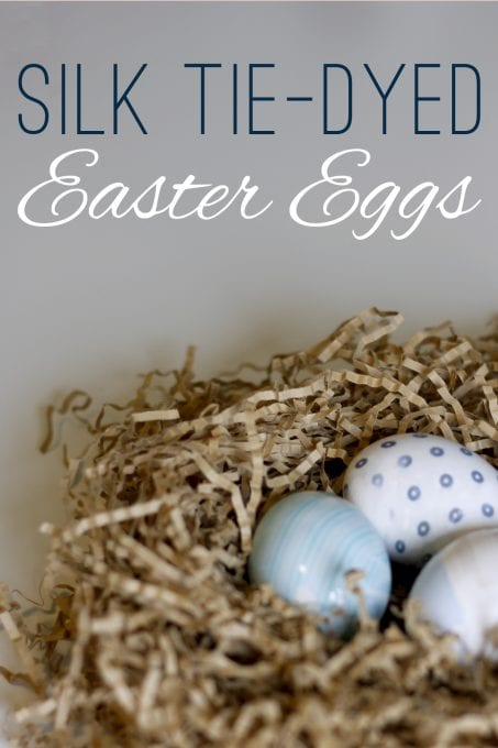 Check out how to make these simple silk tie-dyed Easter eggs.