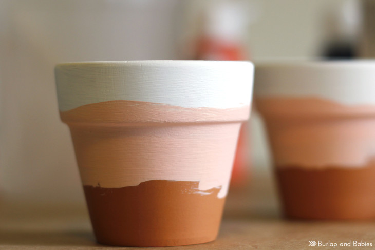 Mini ombre herb pots // A good way to motivate anyone to make a home fresh dinner!