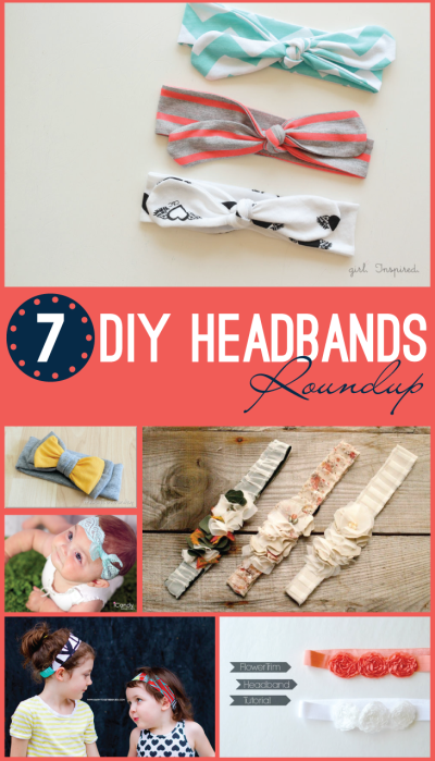 7 DIY Headband Roundup // Create your own darling headband perfect for any little girl!