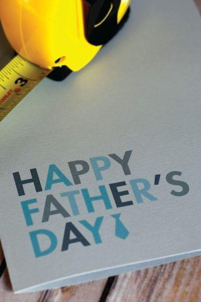 Create a simple Father's Day card with this free printable!