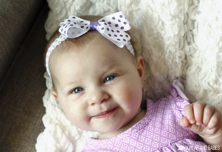 Monthly baby update at Burlap and Babies