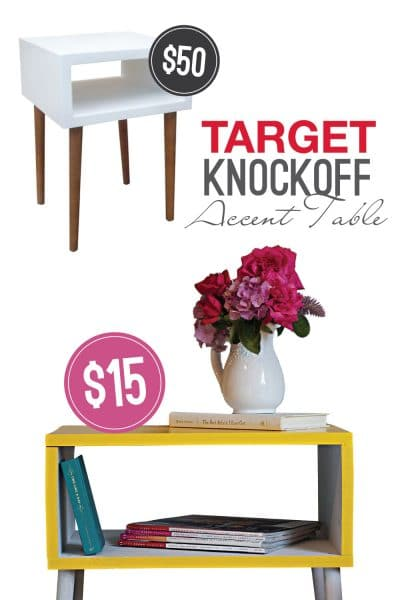 DIY Target Knockoff Accent Table | Create this modern DIY accent table for $15!