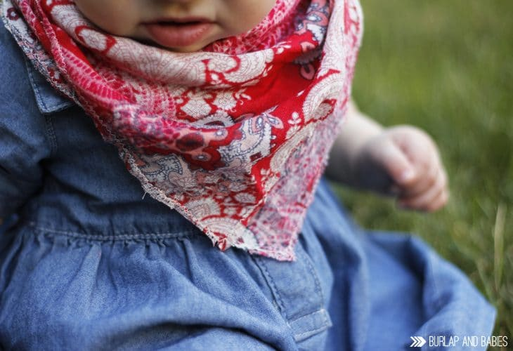 DIY Bandana Scarf | Create this DIY bandana scarf perfect for a little country livin'.