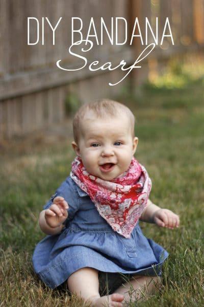 DIY Bandana Scarf | Create this DIY bandana scarf perfect for a little country livin'.