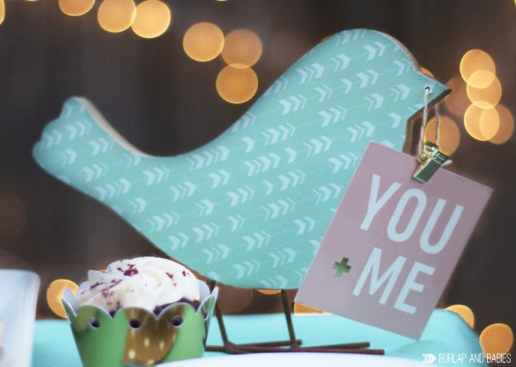 Dessert for Two Date Night | Create a special night at home using crafting supplies from Jen Hadfield's Home+Made collection.