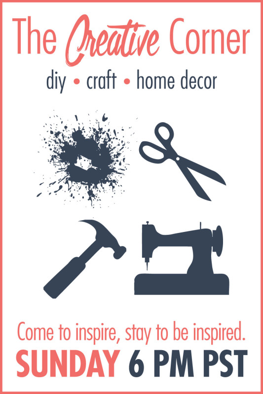 The Creative Corner link party | Come to inspire, stay to be inspired. Share your latest DIY, craft, and home decor posts!