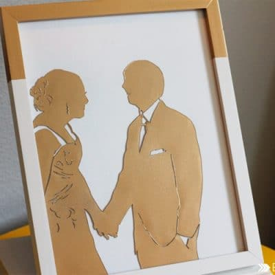 DIY Wedding Picture Silhouette