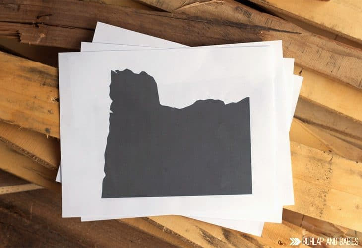 Shape of a state on paper image.