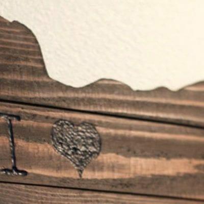 DIY Rustic State Map Wall Art