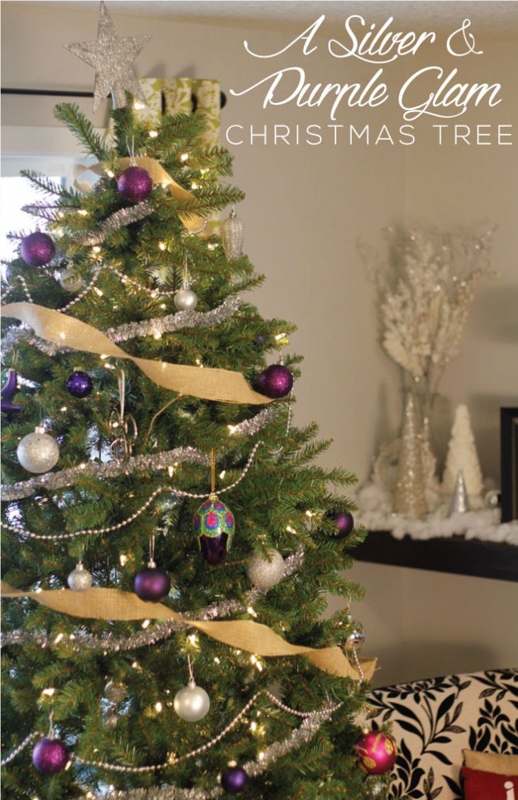 Silver and purple Christmas Tree image.