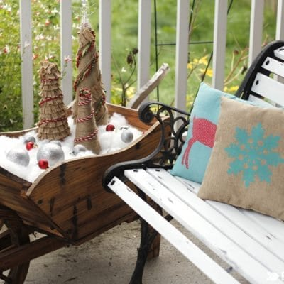 Weathered Bench Makeover