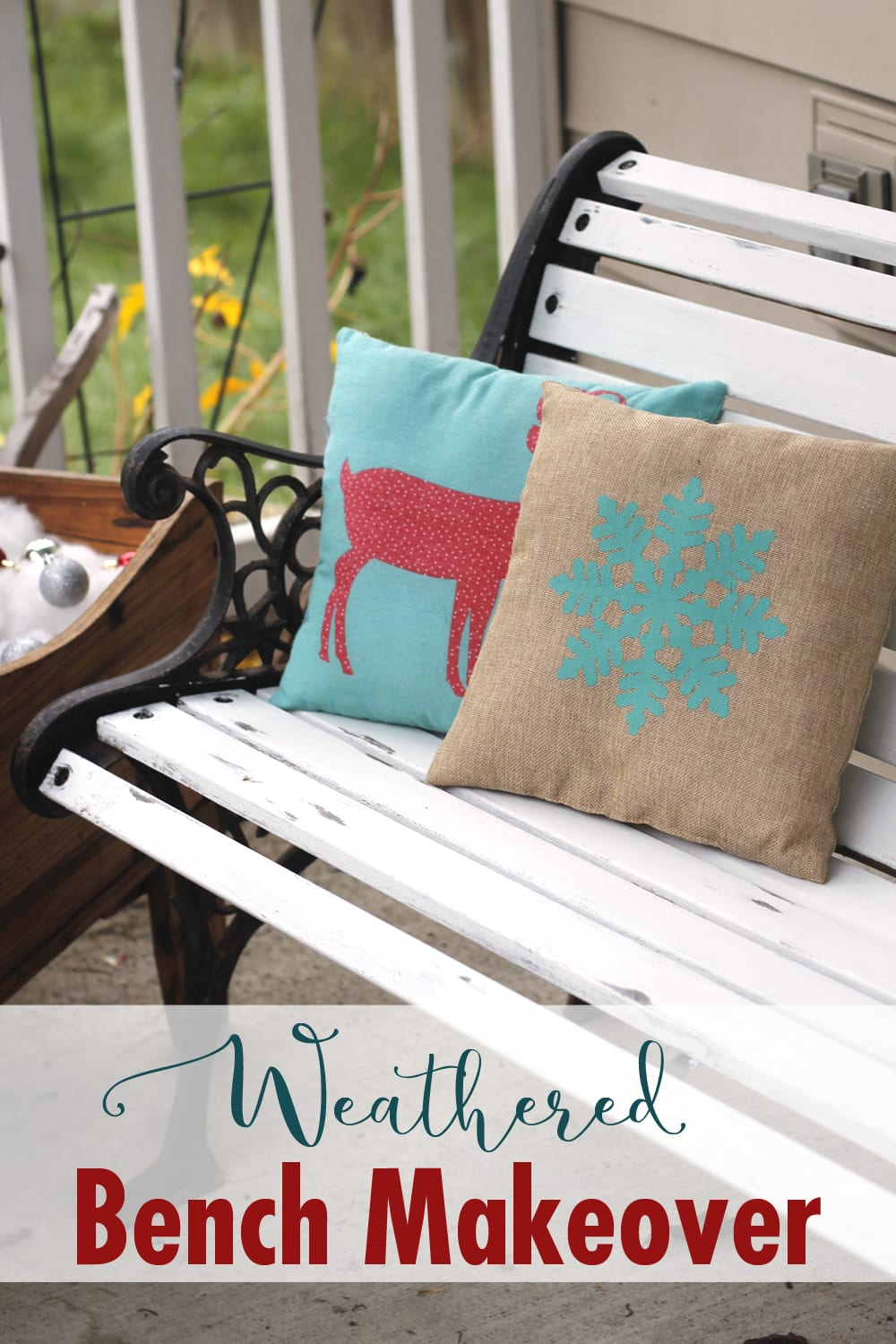 Learn this simple trick to make perfectly weathered furniture every time! See it done on this bench makeover along with 11 other weathered furniture makeover ideas.