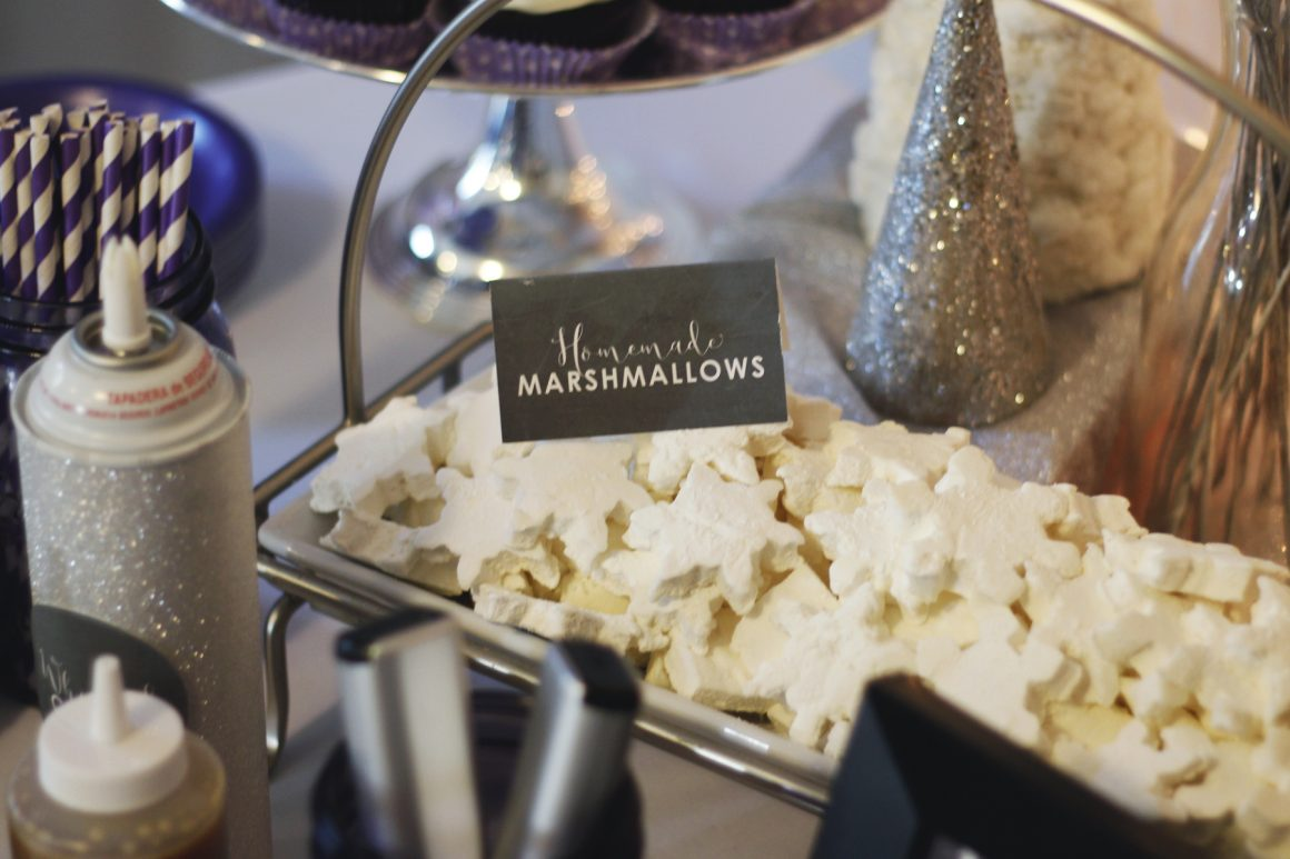 Handmade marshmallows for hot chocolate bar party image.