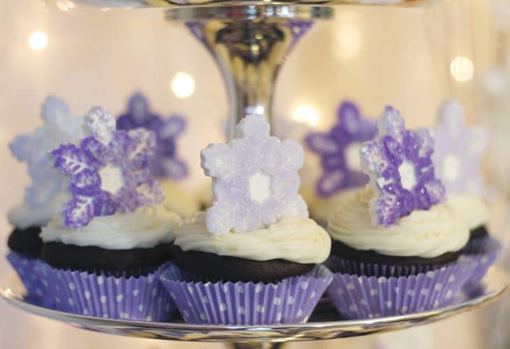 Learn how to make these easy, DIY chocolate snowflake cupcake toppers. Perfect for your next party this winter.