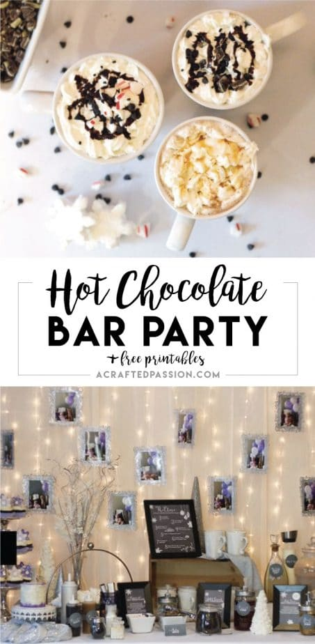 A Winter Wonderland Hot Chocolate Bar   Such a cute idea! Complete with FREE chalkboard labels and DIY hot chocolate bar ideas.