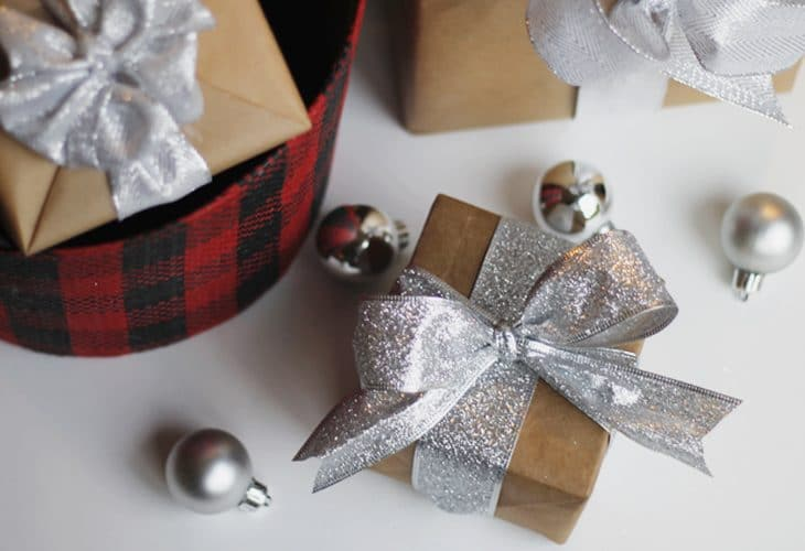 Last minute gift wrap using only TWO things! Gift wrapping made quick and easy using things you already have in your home.