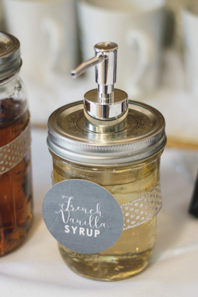 French Vanilla Syrup Mason Jar image.